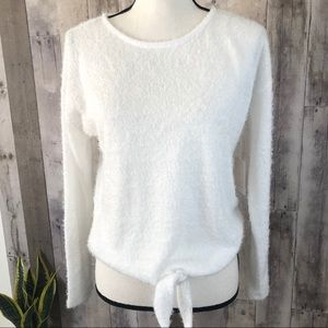 LC Lauren Conrad Relaxed Tied Front Bright White